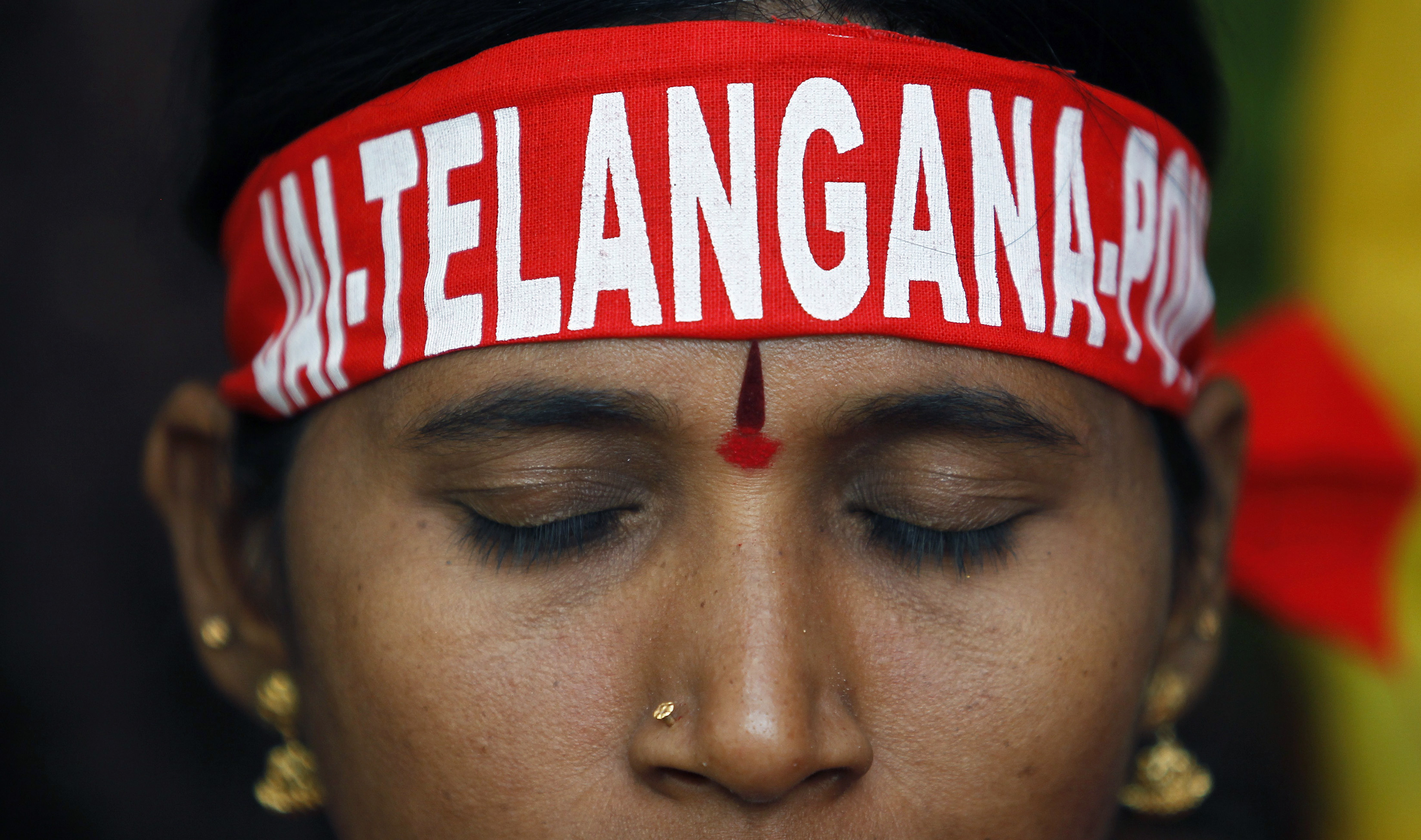 The members have been protesting against the creation of Telangana from Andhra Pradesh. Reuters