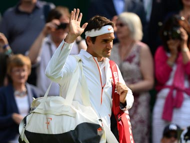 Roger Federer is a step slower than he used to be, according to McEnroe. Getty Images