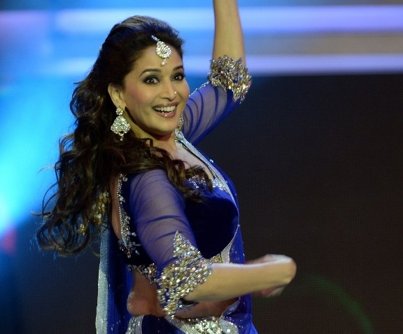 Madhuri Dixit Nene performing at the 14th International Indian Film Academy (IIFA) Award ceremony in July 2013