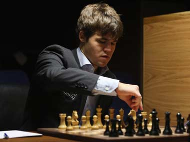 Magnus Carlsen is the youngest ever World No 1 in chess. Getty Images
