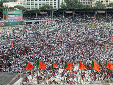 A section of the crowd in Hyderabad: PTI