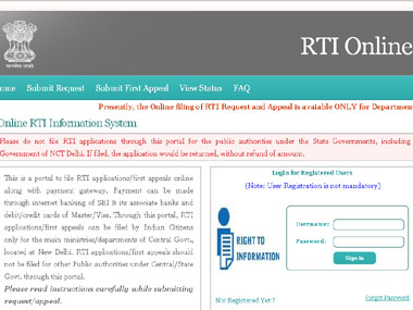 Portal to file RTI applications pay fee online launched today