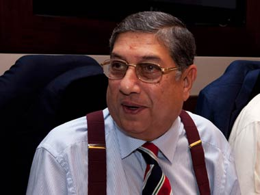 The Supreme Court has issued a notice to N Srinivasan, the BCCI president. Getty Images