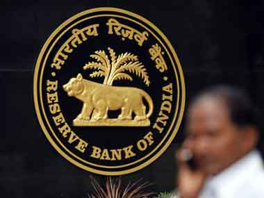 Reserve Bank of India logo. Reuters