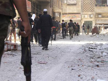 File photo of unrest in Syria. Getty images