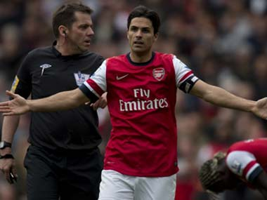 Mikel Arteta will join Manchester City's coaching staff. AFP