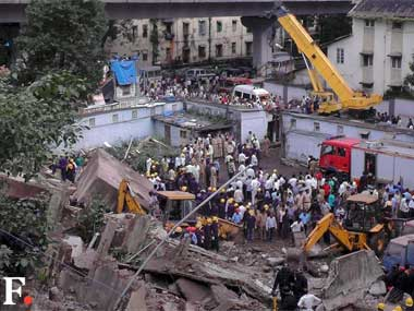 Mumbai building collapse Owner of illegally renovated office held