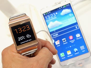 Samsung Galaxy Gear and Galaxy Note 3 in this file photo. Getty Images