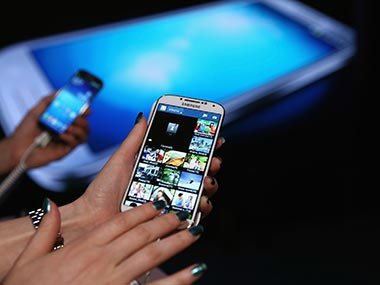 Samsung Galaxy S4 is seen in this file photo. Getty Images