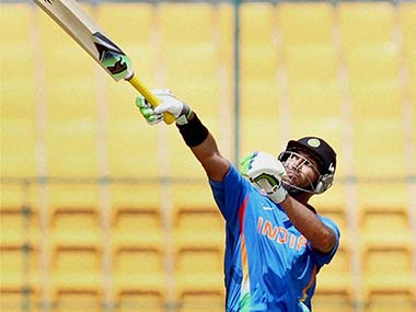 Yuvraj Singh hammered the hapless West Indies 'A bowlers in the first game. PTI