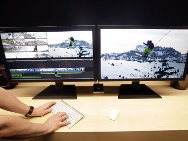 An iMac is seen at Apple's launch event. AP