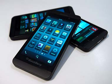 BlackBerry Z10 is seen in this file photo. AP