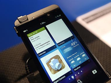 BlackBerry Z10 in this file photo. Getty Images