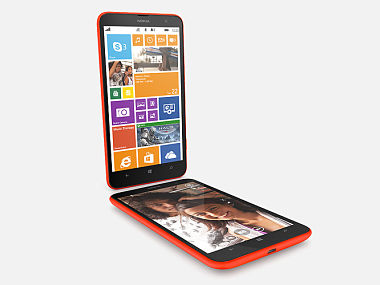 Nokia Lumia 1320 is seen in this product photo.