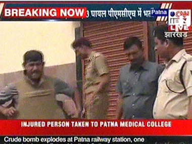 Patna blasts live One more suspect detained in Motihari raids on