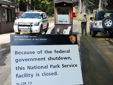 National parks remained closed due to US shutdown. AP.