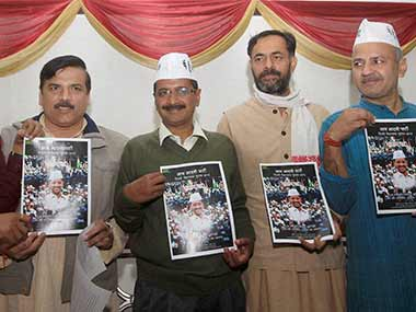AAP released its Delhi manifesto this morning. PTI