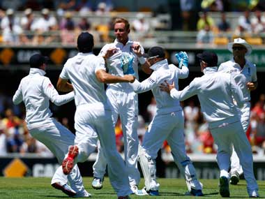 The Ashes Broad takes five as Australia struggle on day one