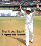 Thank you Sachin: A legend bids farewell