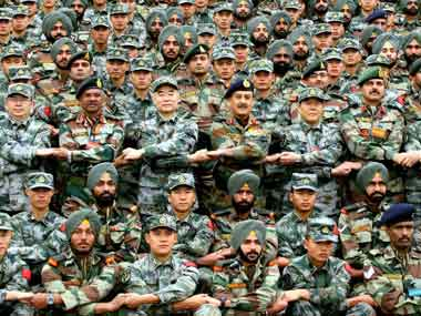 Indian soldiers back after joint exercise with Chinese counterparts