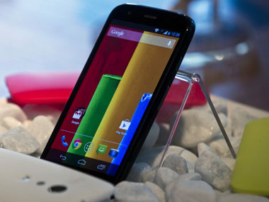 The Moto G smartphone is seen in this file photo. AFP