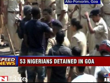 Nigerian protest Local drug lords gain upper hand in Goa turf war