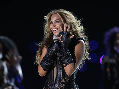 FILE - In this Feb. 3, 2013 file photo, Beyonce performs during the halftime show of the NFL Super Bowl XLVII football game between the San Francisco 49ers and the Baltimore Ravens, in New Orleans. Beyonce released her fifth self-titled album exclusively on iTunes early Friday, Dec. 13, 2013. AP