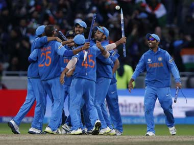 File photo of India celebrating after winning the Champions Trophy. Getty Images