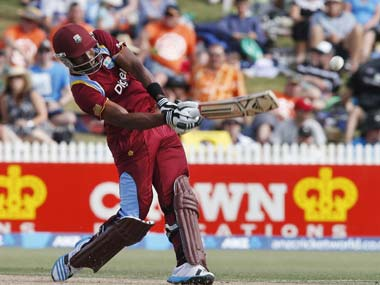 Kirk Edwards brutally assaulted the New Zealand bowlers. AFP