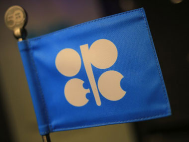 The logo of the Opec (Organization of the Petroleum Exporting Countries) is seen at the organization's headquarter in Vienna. AFP