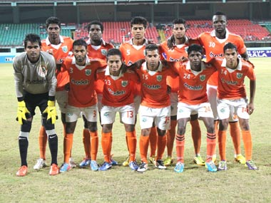 File photo of Sporting Clube de Goa. AIFF