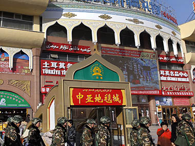Grand Bazaar in Urumqi, Xinjiang, land of the Uighurs. Reuters