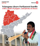 Telangana clears Parliament hurdle with a dash of pepper, and plenty of chaos