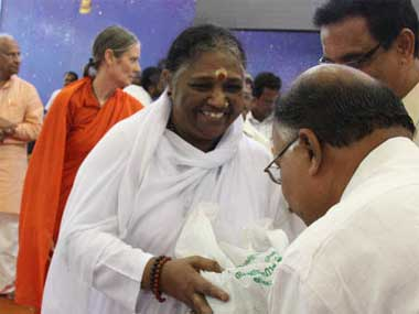 Mata Amritanandamayi. Agencies.