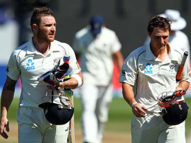 Brendon McCullum and BJ Watling tormented India with a 342-run partnership. Getty Images