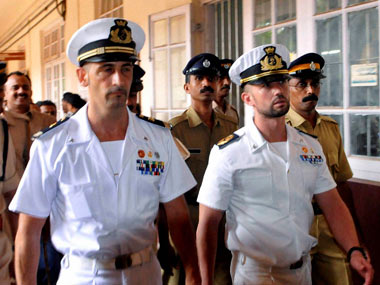 Italy asks United Nations to help free marines from India