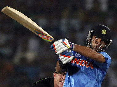 India's Yuvraj Singh plays a ball against Australia during their ICC Twenty20 World Cup match at the Sher-E-Bangla National Cricket Stadium in Dhaka. Reuters