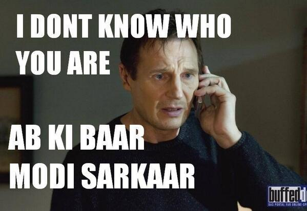 Liam Neeson says Modi Sarkar too. Image from Twitter