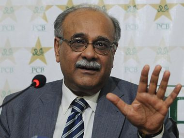 File picture of PCB chairman Najam Sethi. AFP