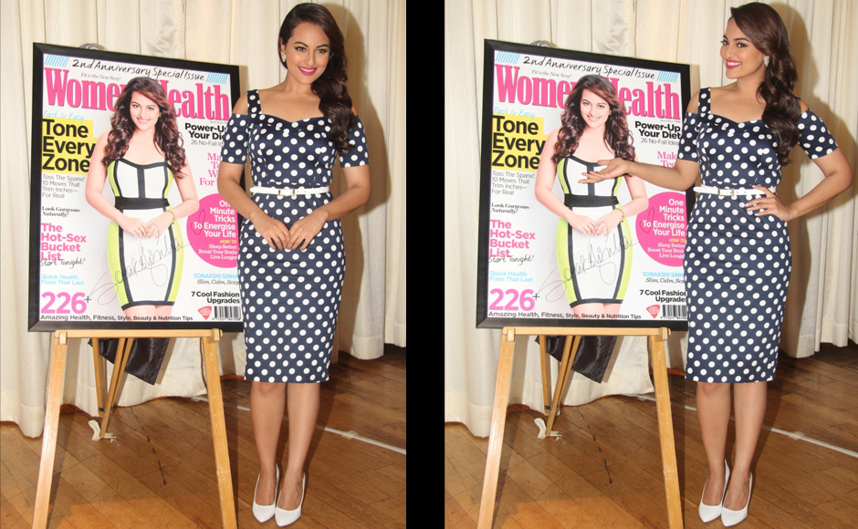 Images Sonakshi Manisha turn cover girls for health magazines