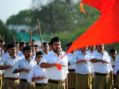The RSS at one its shasaks. AFP