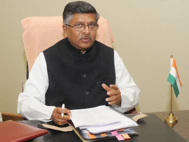 Union Minister for Communications and IT Ravi Shankar Prasad. Image courtesy PIB