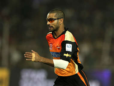 Skipper Shikhar Dhawan of the Sunrisers Hyderabad. BCCI