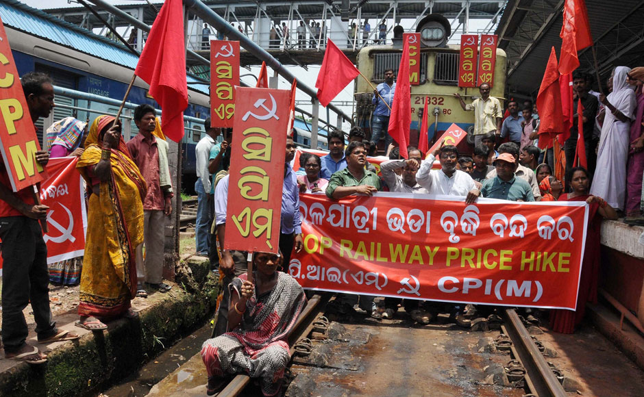 Photos Protests against rail fare hike across India