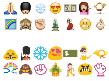 For these Emoji icons. There's a middle-finger coming.