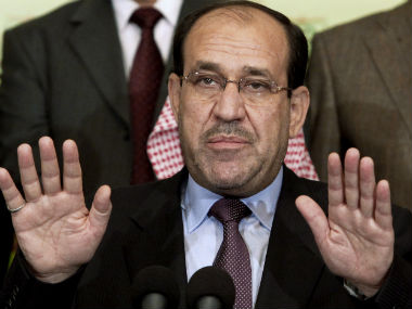 Iraq's PM Nouri al-Maliki in this file photo. AP