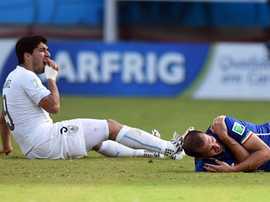 Italy defender Giorgio Chiellini admires Uruguay striker Luis Suarez for biting him at 2014 World Cup