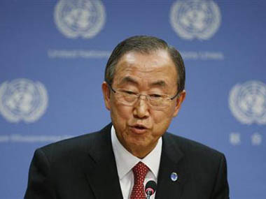 UN Secretary General Ban Ki-moon called for an end to fighting near MH17 crash sire. Reuters