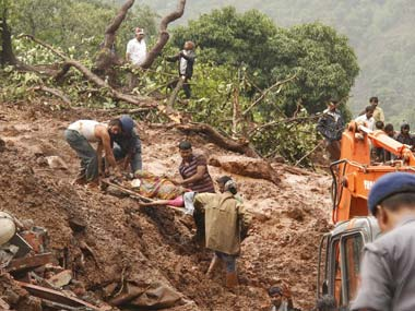 Pune landslide toll hits 25 likely to rise further Rajnath Singh to visit today