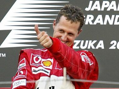 Formula 1 Michael Schumacher named most influential person in race history in fan poll